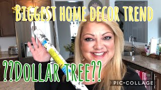 The Biggest TREND In Home Decor!!! Dollar Tree Contact Paper????