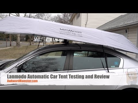 Lanmodo Automatic Car Tent Winter Test and Review