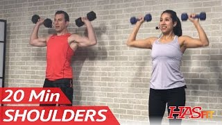 20 Min Shoulder Workout for Women & Men at Home with Dumbbells - Deltoid Exercises for Shoulders by HASfit