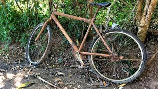 Old and Rusted Mountain Bicycle Restoration