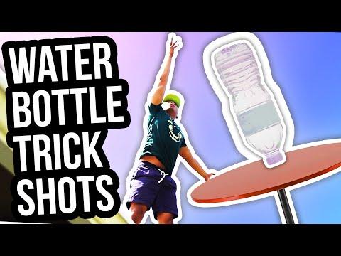 WATER BOTTLE FLIP TRICK SHOTS!