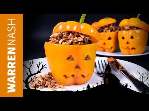 Stuffed Jack O' Lantern Peppers - Halloween Recipes, Tasty & Healthy by Warren Nash
