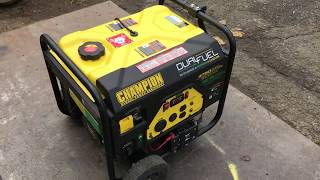 How to operate a Champion Dual Fuel Generator