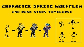 My Character Sprite Workflow (and Pose Study Timelapse!)