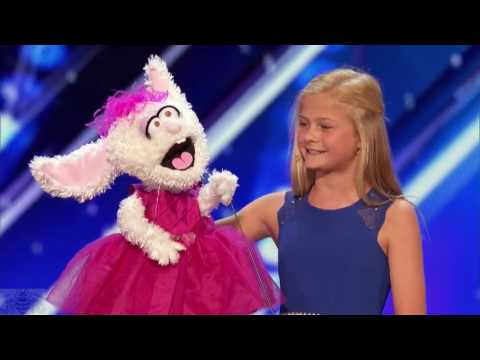 12 Year Old Darci Lynne ♡ The Singing Ventriloquist ♡ Gets Golden Buzzer ♡ America&#39s Got Talent 2017