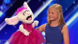 12 Year Old Darci Lynne ♡ The Singing Ventriloquist ♡ Gets Golden Buzzer ♡ America's Got Talent 2017