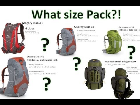 What Size Hiking Backpack Visual Comparison by onza04