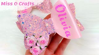 How To Make Personalized Hair Bow // Hair Bows With A Name // Hair Bow Tutorial || Miss O Crafts