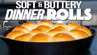 HOMEMADE DINNER ROLLS SO SOFT & BUTTERY YOU'LL WANT TO….    SAM THE COOKING GUY