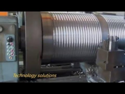 140 Amazing Monster Lathe Works Biggest Lathe cutting - смотреть
