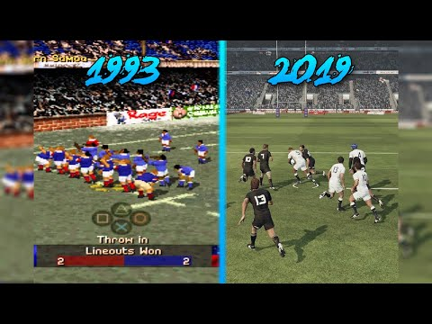 Rugby Video Games Evolution (1993-2019)