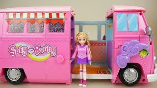 Baby doll friends camping car toy play