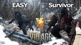 Resident Evil 8 Village - EASY vs. Village of Shadows Difficulty