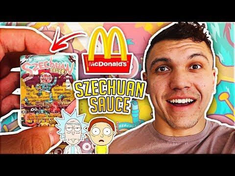 McDonald's Rick and Morty Szechuan Sauce Taste Test Challenge!!
