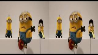 3D Minions Short Movie 02 | Side by Side SBS VR Active Passive