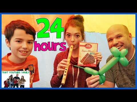 24 Hours Overnight In Air Box Forts! / That YouTub3 Family