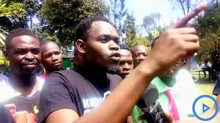 Artists protest over mistreatment and frustrations from the youth and