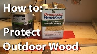 How to protect outdoor wood with Sikkens wood stain