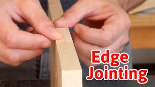 How to edge joint boards (without a jointer) to make wide panels | LOCKDOWN Day 143