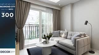 Mẫu thiết kế nội thất căn hộ Richmond City 86m2 - Quận Bình...