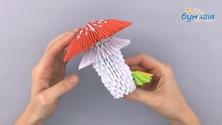"""Набор для творчества ЗD оригами """"Мухомор"""" 422 модуля от компании Интернет-магазин """"Радуга"""" - школьные рюкзаки, канцтовары, творчество - видео"""