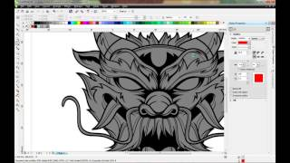 Dragon Illustration CorelDraw Time-lapse