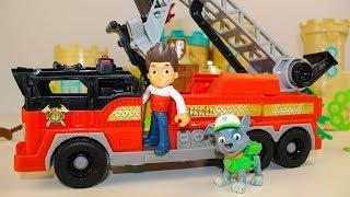 Мультики Щенячий патруль Рокки и Пожарная машина Мультфильмы для детей про #промашинки