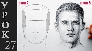 Портрет, лицо и голову человека. Техника Эндрю Лумиса.