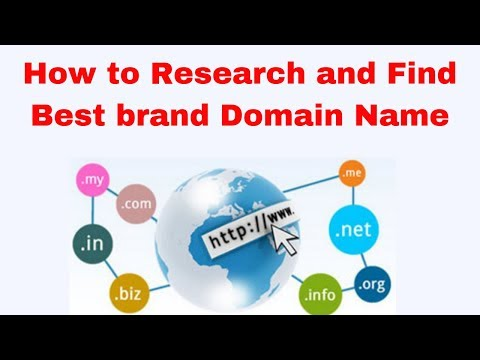How to Research and Find Best brand Domain Name 2019
