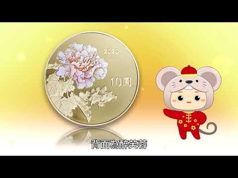庚子鼠年生肖套紀念套幣(影片由中央銀行提供)
