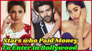 10 Bollywood Stars Who Paid Huge Money to Become Actors