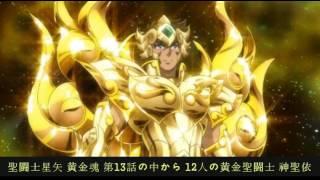 聖闘士星矢 黄金魂 第13話の中から 12人の黄金聖闘士 神聖依