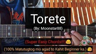 Torete - Moonstar88 (Super Easy Chords Guitar Tutorial)
