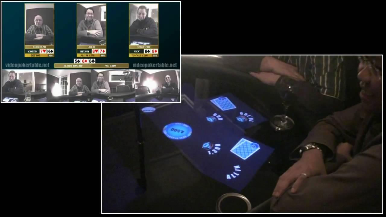Touchscreen Virtual Poker Table Is A Tech Royal Flush