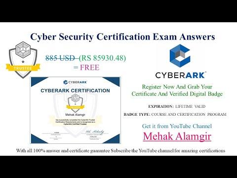 CyberArk trustee exam answers | CyberArk Trustee Certification ...