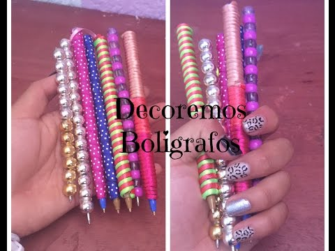 DIY DECORA TUS BOLIGRAFOS/PLUMAS |Brenda PE|