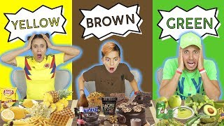 LAST TO STOP EATING THEIR COLOR FOOD WINS $10,000! *CHALLENGE* | The Royalty Family