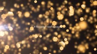 golden bokeh - hd video background loop | golden particles video effects | golden particles overlay