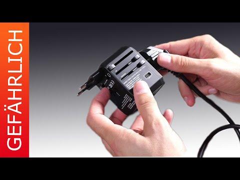 Gefährliche Reisestecker (mit USB Ladestation)!