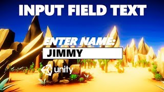 HOW TO DISPLAY TEXT FROM AN INPUT FIELD USING C# UNITY TUTORIAL