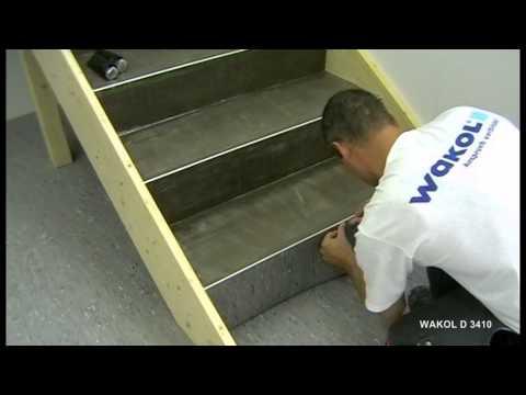 Verlegen von PVC-Belägen auf Treppen - WAKOL D 3410 Kontakto