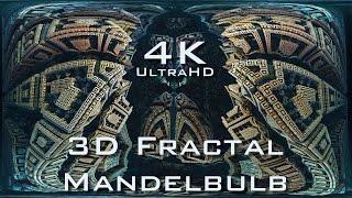 4K Descent into Fractal Core - Light - Mandelbulb 3D fractal UltraHD 2160p
