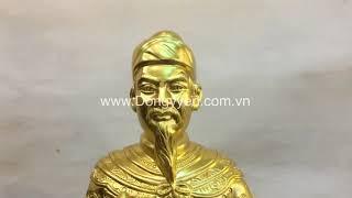 Tượng Trần Hưng Đạo 81cm Dát Vàng 9999 cực đẹp