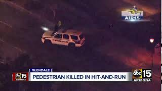 Pedestrian killed in hit-and-run in Glendale