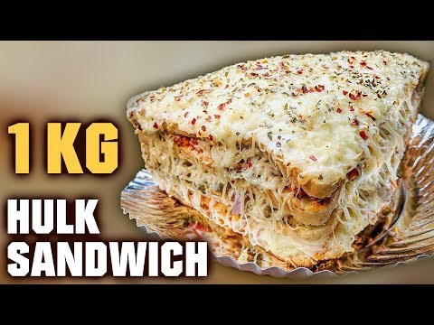 Biggest Sandwich In Mumbai | 1 Kg Hulk Sandwich | 5 Layer Hulk Sandwich | Mega Foods 2019