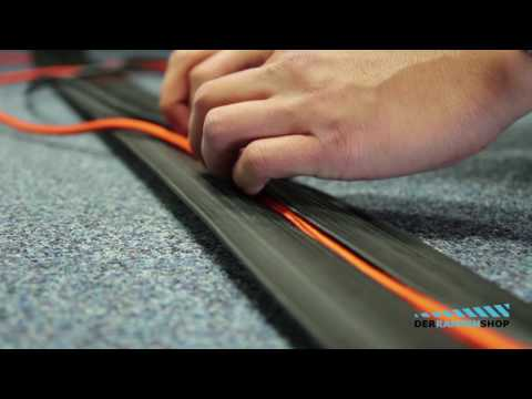 Flexible Premium Vollgummi Kabelbrücken/Kabelkanal mit gelbem Sichtstreifen