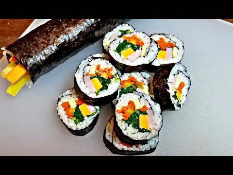 How to make Kimbap (Gimbap)   Lunch Box Ideas   Kimbap recipe