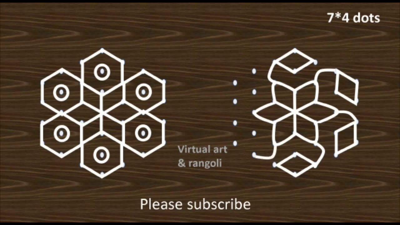 muggulu rangoli deisgn for beginners by virtual art