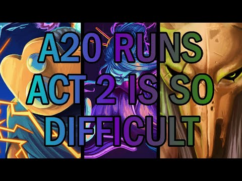 Act 2, why are you so hard? | Ascension 20 Various Runs | Slay the Spire