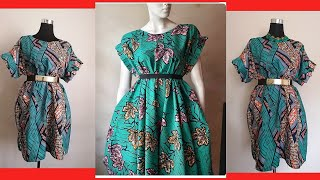 DIY Simple African Ankara Print Shift (Kaftan) Dress